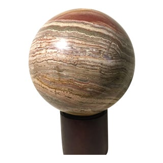 Large Polished Striped Onyx Sphere