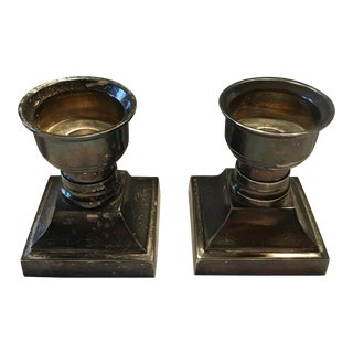 Stiffel Silver PlateTone Candle Holders -Set of 2 Christmas For Sale