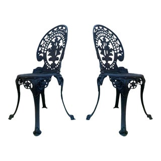 20th Century Renaissance Revival Style Back Garden Chairs - a Pair For Sale