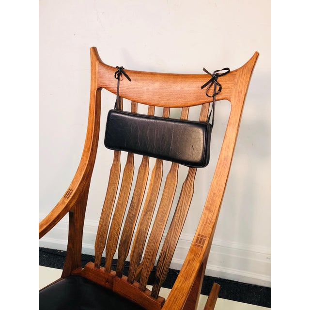 Brown Exceptional and Monumental Rosewood Rocking Chair by Stephen O'Donnell For Sale - Image 8 of 11