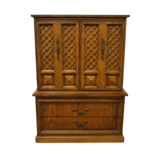 "Dixie Furniture Casa Bonita Collection Mediterranean 40"" Door Chest on Chest 414-309 For Sale"