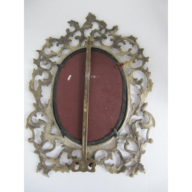 Brass Scroll Vanity Mirror For Sale - Image 5 of 6