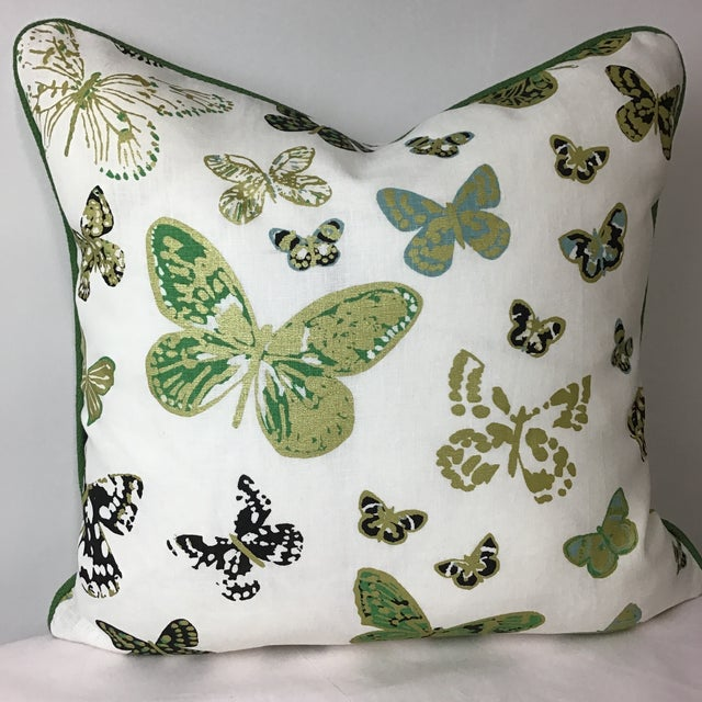 Printed Linen Butterfly Print by Lulu Dk Duralee For Sale In New York - Image 6 of 6