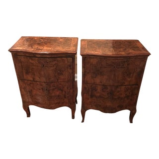 Italian Walnut Commodes - A Pair
