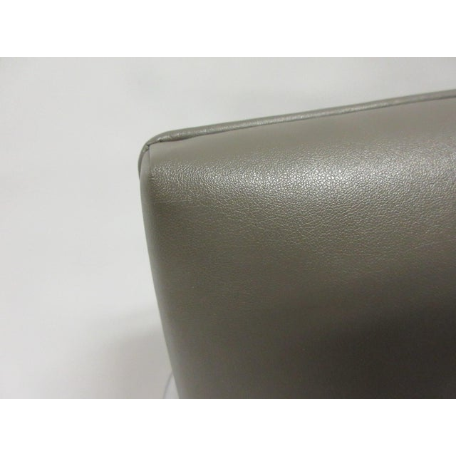 Silver Mies Van Der Rohe Brno Guest Chair in Brown - a Pair For Sale - Image 8 of 10