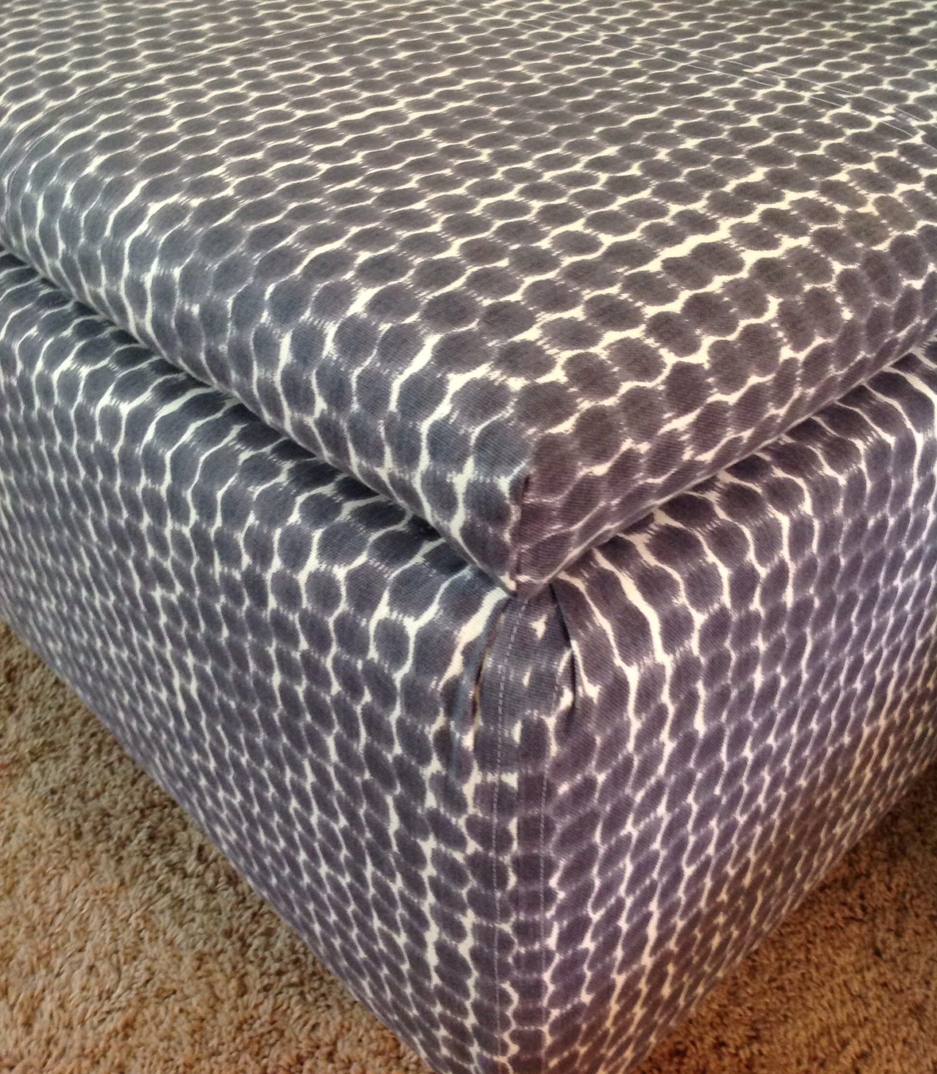 Superieur Navy Ikat Storage Ottoman For Sale In Chicago   Image 6 Of 6