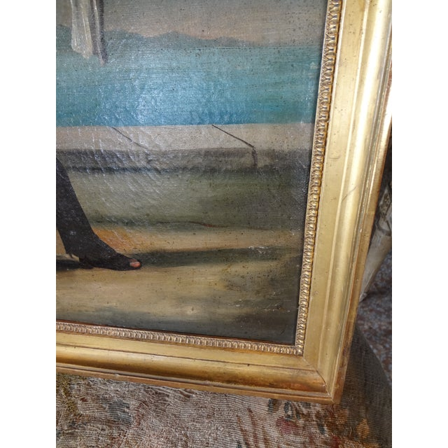 Canvas 19th Century Italian Painting For Sale - Image 7 of 11