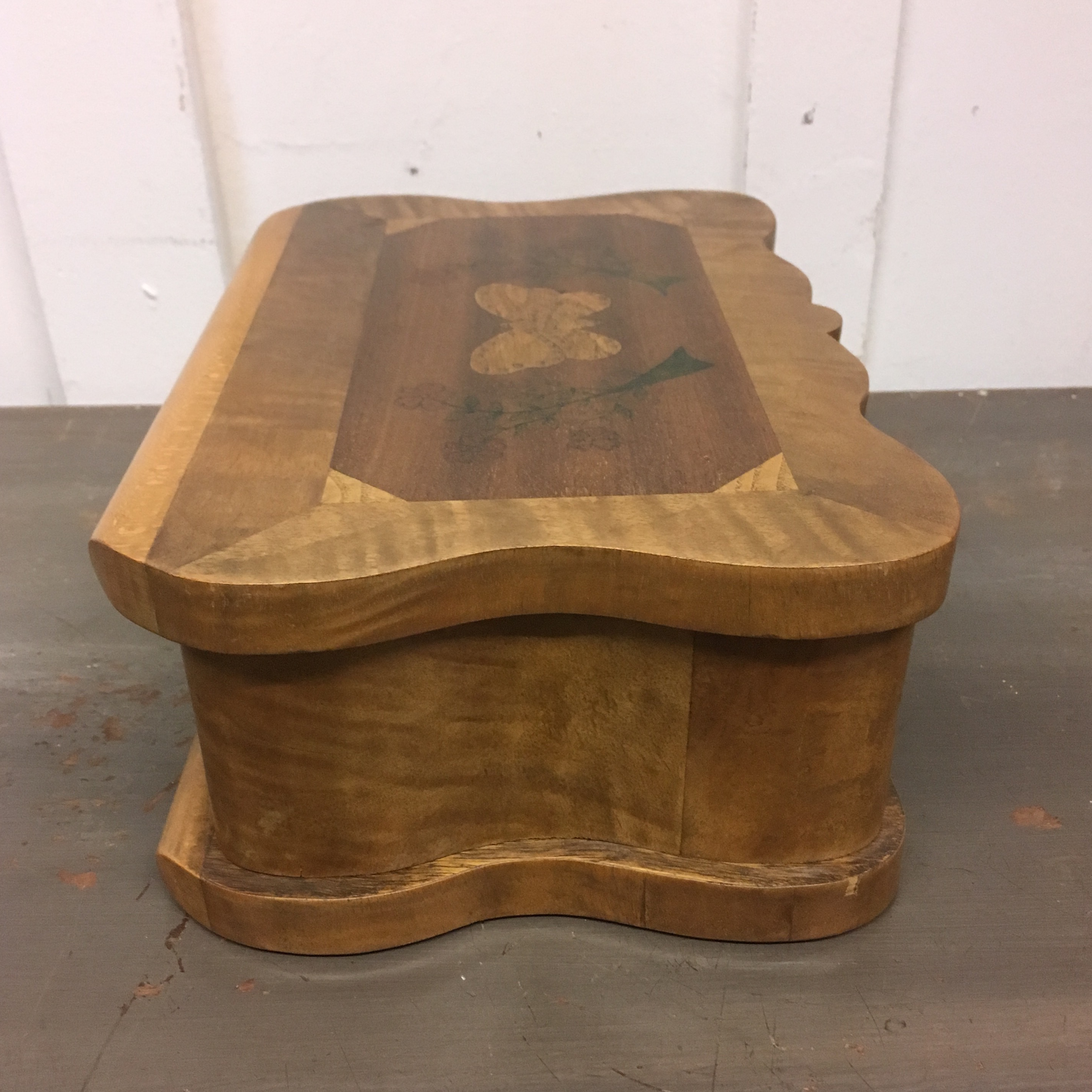 Burl Wood Jewelry Box 1940s Chairish