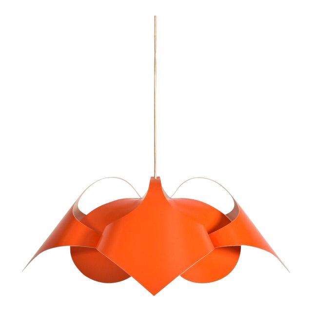 Verner Panton Orange Lamp For Sale