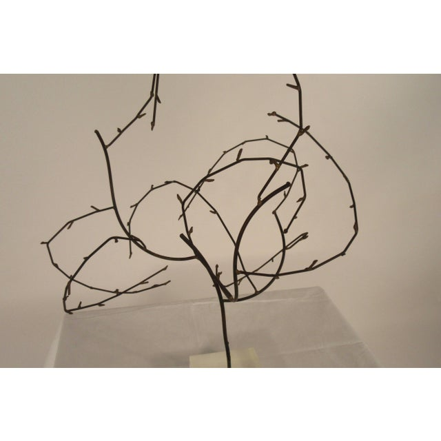Black 1970s Free-Form Abstract Sculpture on Lucite Base For Sale - Image 8 of 10