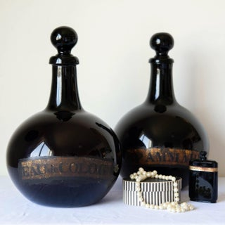 Large French 18th Century Hand Blown Glass Parfumerie Bottles - a Pair Preview