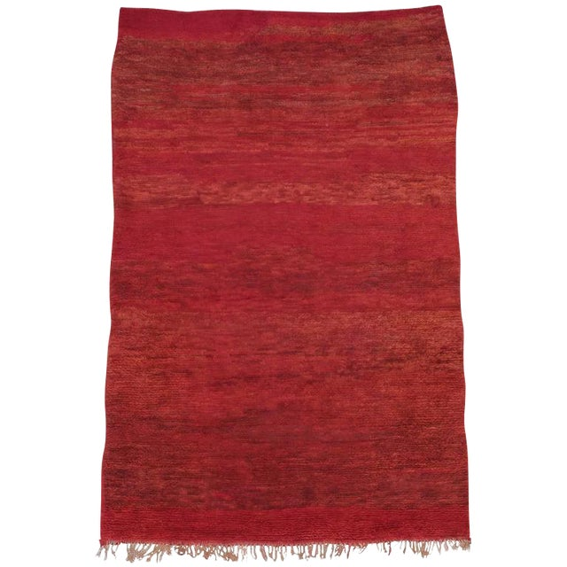 Red Beni Mguild Moroccan Berber Rug For Sale