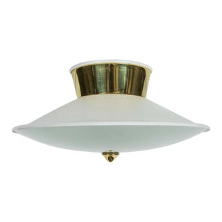 1950s Flush Mount Ceiling Light by Oscar Torlasco for Lumi For Sale