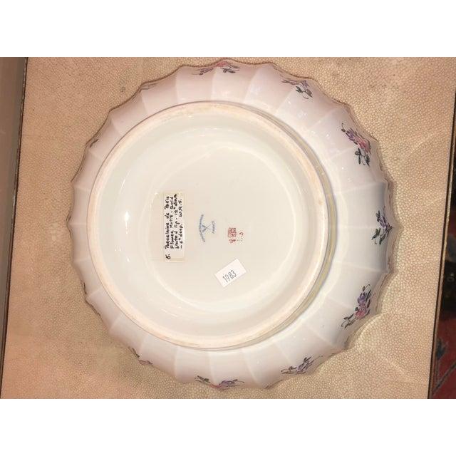 Porcelain De Paris Flower Motif Bowl For Sale - Image 4 of 5