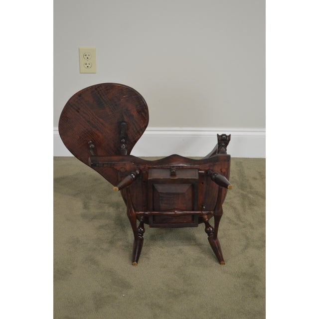 Windsor Style Miniature Childs Writing Arm Chair by K. Malone (18th Century Reproduction) For Sale - Image 9 of 13