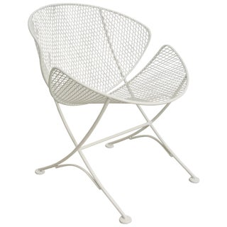 "Salterini ""Clamshell"" White Patio Side Chair For Sale"