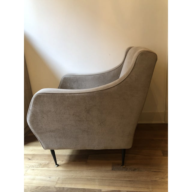 Italian Mid Century Vintage Italian Lounge Chairs- a Pair For Sale - Image 3 of 7