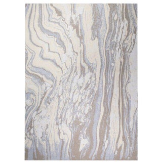 """Marble Cashmere Blanket, Sepia, 51"""" x 71"""" For Sale"""