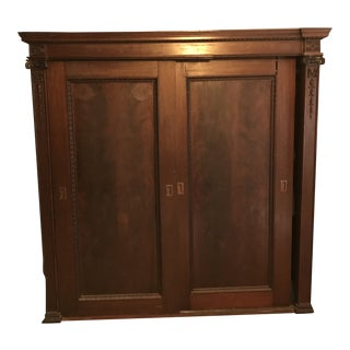 19th C. Antique Wardrobe For Sale