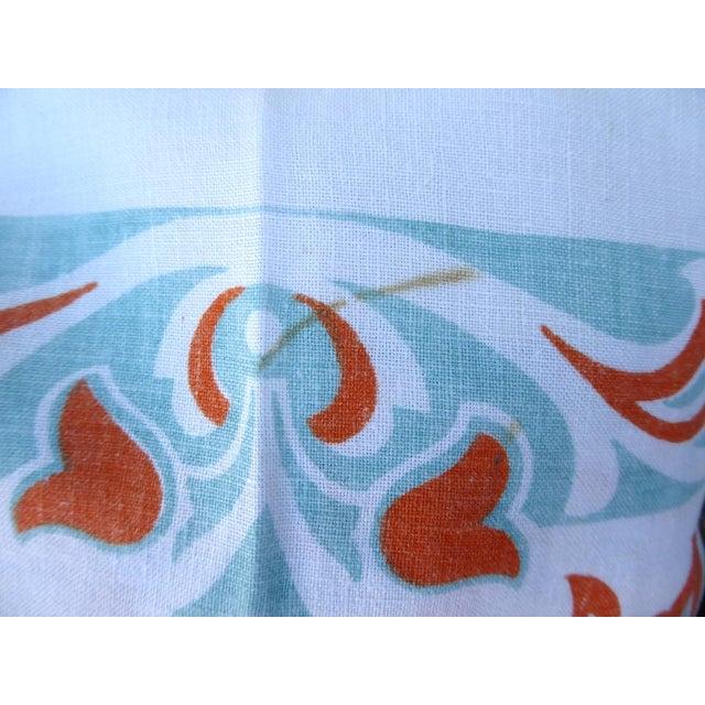 Vintage Linen Tablecloth Stencil Print For Sale - Image 4 of 5