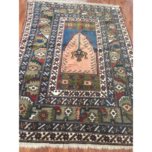 Islamic Antique Yahyali Pastel Tribal Rug For Sale - Image 3 of 5