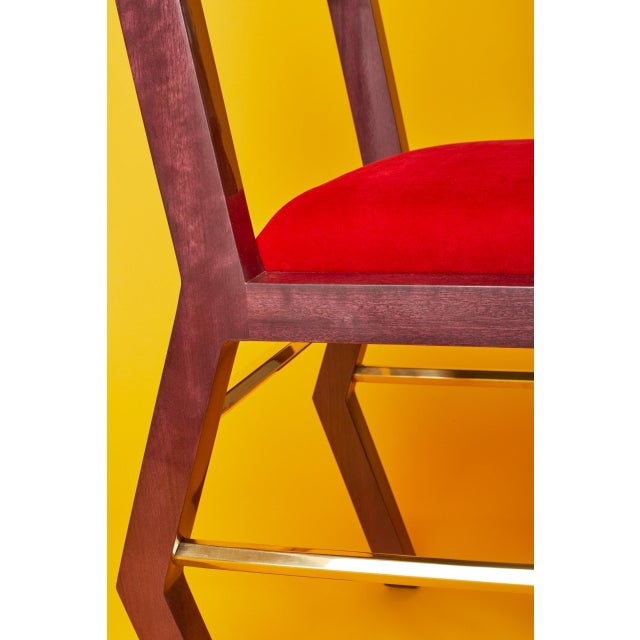 Hex Chair by Artist Troy Smith - Contemporary Design - Artist Proof - Custom Furniture For Sale - Image 6 of 9