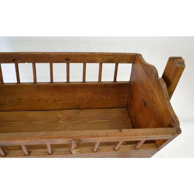 Beech Pine Rocking Cradle For Sale - Image 7 of 7