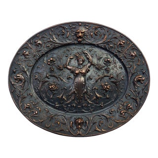 American Radiator Company Copper Plated Cast Iron Oval Medallion For Sale