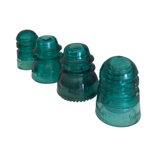 Antique Glass Insulators - Set of 4 - Image 1 of 4