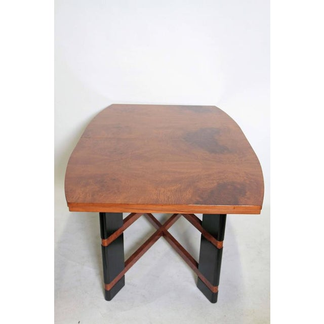 Art Deco Hastings Dining Table / Chairs Double X-Base Teague / Deskey For Sale - Image 10 of 11