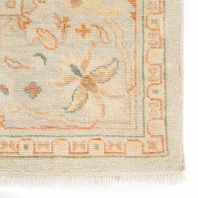 Contemporary Jaipur Living Phillips Hand-Knotted Floral Light Blue / Cream Area Rug - 9′ × 12′ For Sale - Image 3 of 5