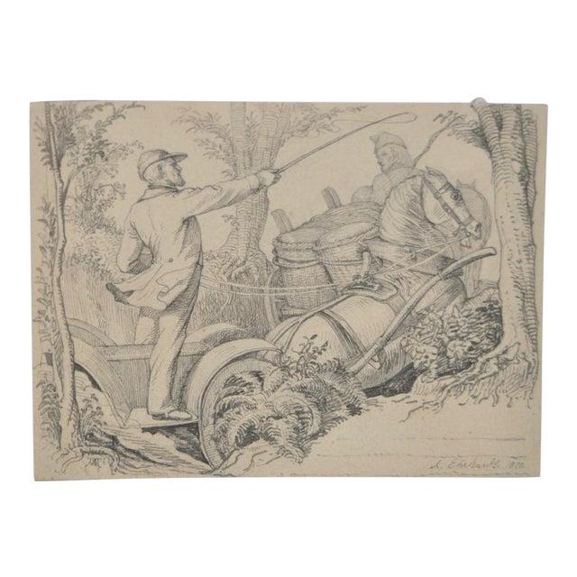 Karl Ludwig Adolf Ehrhardt Original Drawing c.1872 - Image 1 of 4