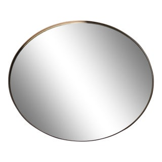 Palo Samko Large Leather Round Wall Mirror For Sale