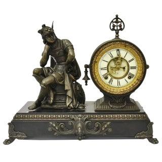 19th Century Ansonia Mercury Open Escapement Figurative Mantel Clock For Sale