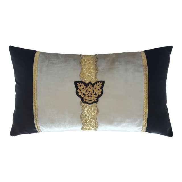 Classic Crest And Passamenterie Trim Pillow - Image 1 of 3