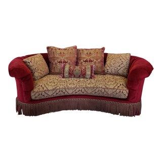 Lane Venture Excursions Curved Kidney Bordello Style Sofa