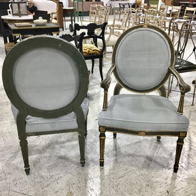 Pair of 18th Century Italian Neoclassic Armchairs For Sale - Image 9 of 13