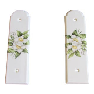 Vintage Porcelaine De Paris Door Push Plates - A Pair For Sale