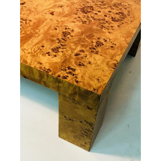 Tan Burl Wood Table by Willy Rizzo For Sale - Image 8 of 9