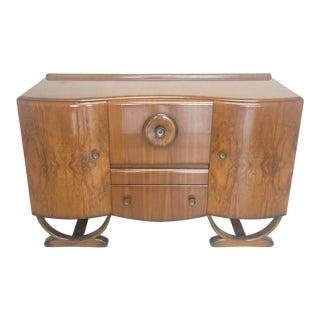 Antique English Art Deco Bar Cabinet For Sale