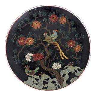 Antique Oriental Hand Decorated Plate