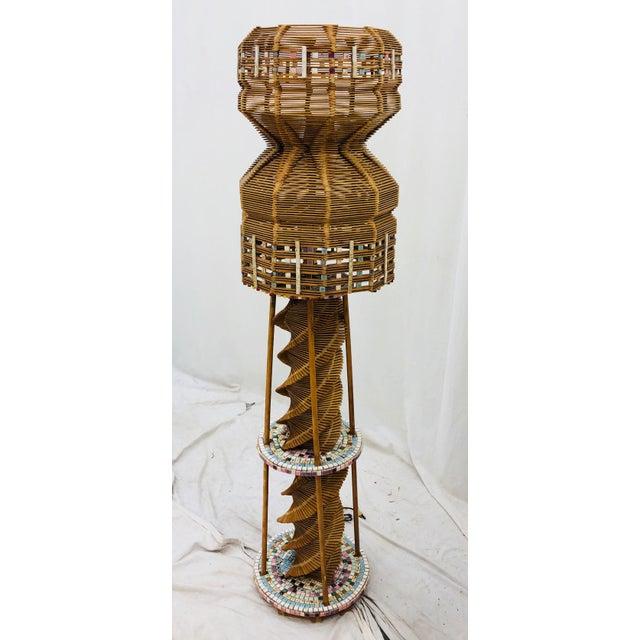 Vintage Folk Arts & Crafts Lamp For Sale - Image 10 of 10