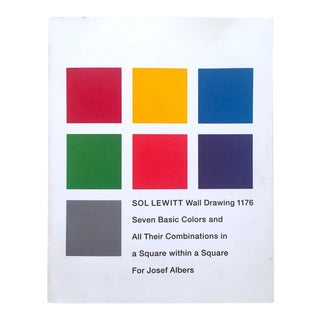 "Sol LeWitt "" Wall Drawing 1176 "" Rare 1st Edition Josef Albers Museum Exhibition Collector's Art Book For Sale"