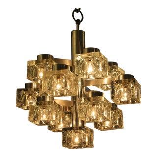 Gaetano Sciolari for Lightolier 13 Bulb Chandelier For Sale