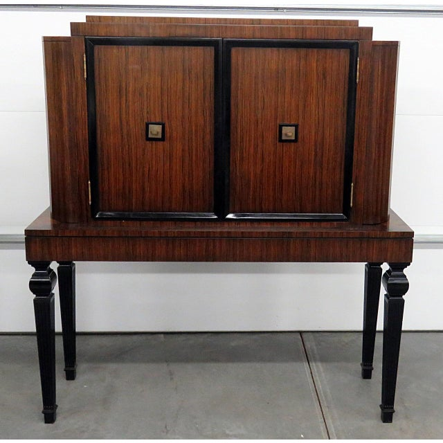 Art Deco Style Rosewood Bar For Sale - Image 10 of 10