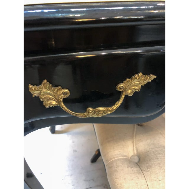 Louis XV Style Desk / Secretary With Neoclassical Stool Set For Sale - Image 10 of 13