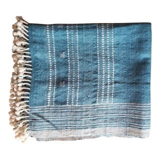 Hand Woven Tribal Wool Throw For Sale