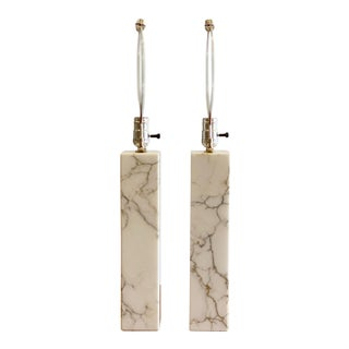Scandinavian Mid-Century Bergboms Marble Table Lamps - a Pair For Sale