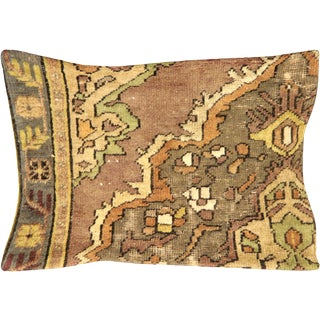 "Nalbandian - 1960s Turkish Oushak Pillow - 16"" X 23"" For Sale"