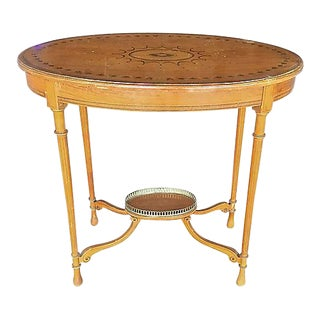Antique Edwardian Satinwood Occasional Table For Sale
